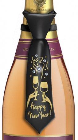 Happy New Year Bottle Tie