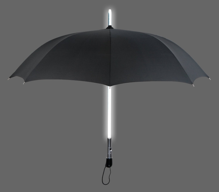 LED Lighted Up Shaft 3 Light Modes Windproof Umbrella