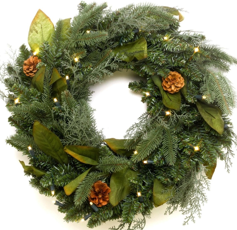 Lighting 24 Green River Spruce Battery Operated LED Wreath