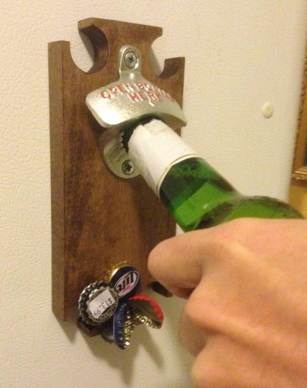 Magnetic Bottle Opener and Cap Catcher