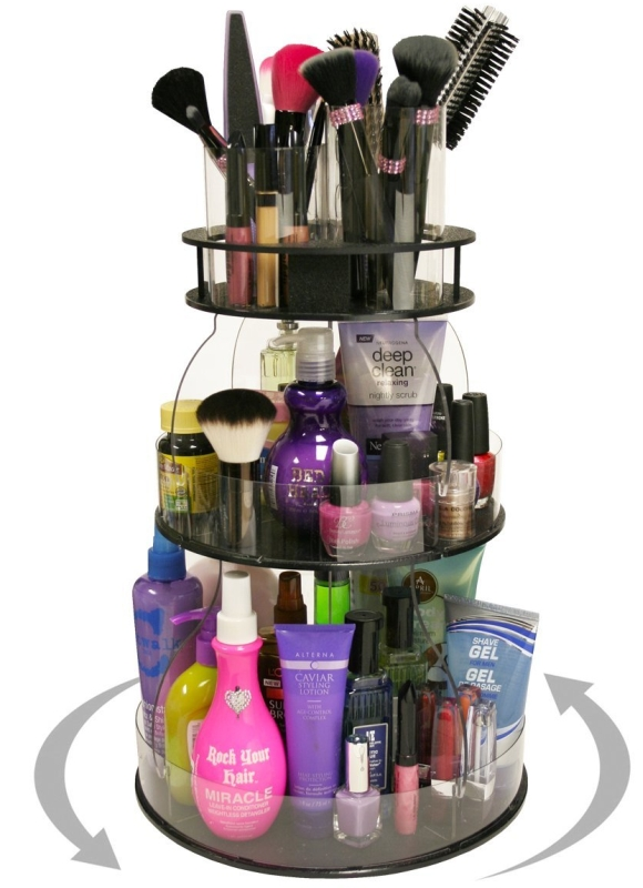 MakeupCosmetic Organizer with 4 Tube Holders