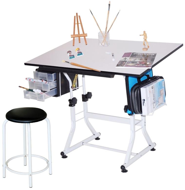 Martin Ashley Art-Hobby Table with Stool