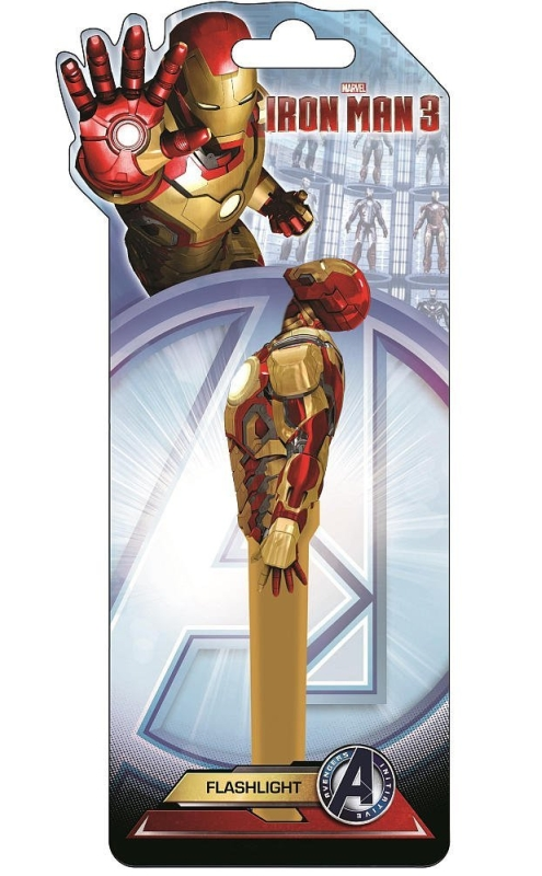 Marvel Iron Man Flashlight with Mini Keychain Flashlight