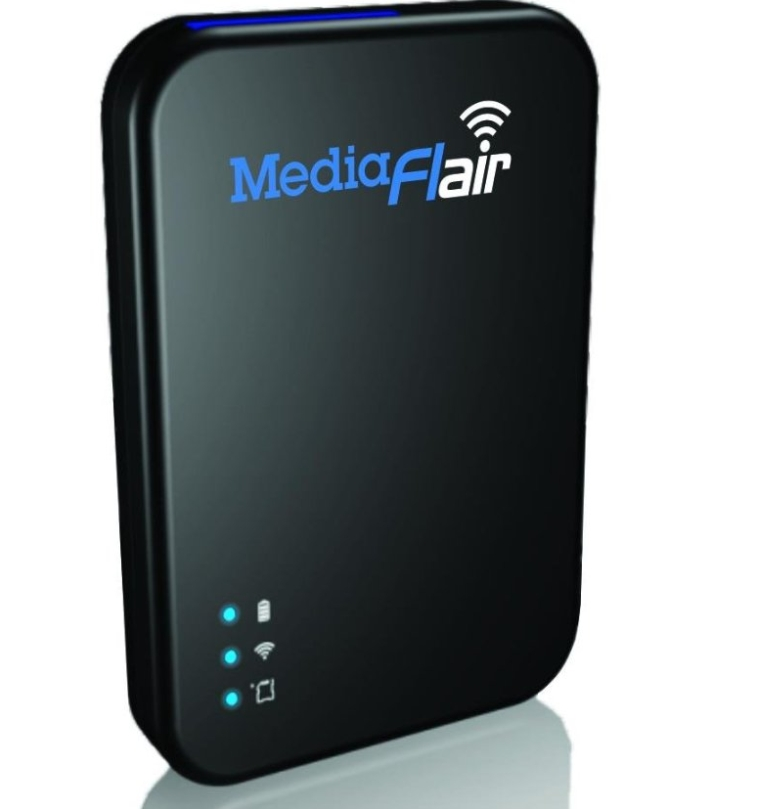 MediaFlair Portable Wi-Fi Streaming Media Storage
