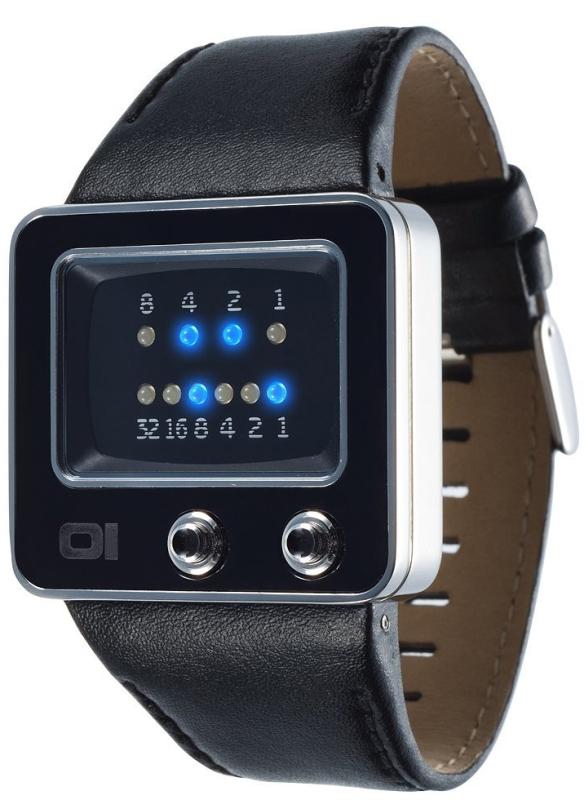 Mens TV Binary LED Watch