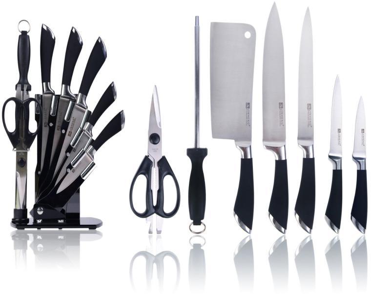Modern Forged Kitchen Knife Set with Voguish Storage
