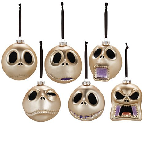 Nightmare Before Christmas Faces of Jack Skellington Ornament Collection