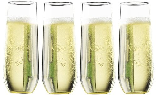 Pomponne Stemless Champagne Party Flutes
