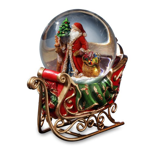 Santa Snow Globe on Sleigh