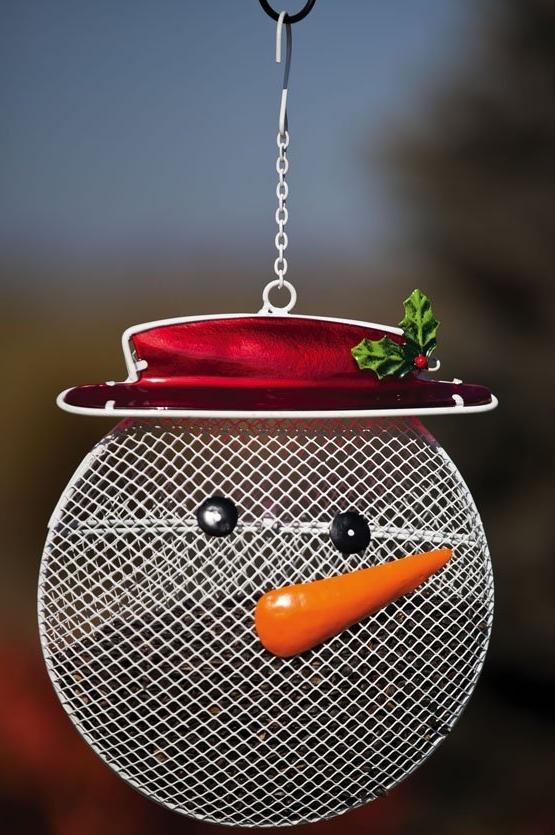 Snowman Suet Feeder