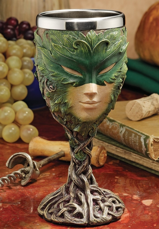 Spirits Greenman Lady of the Leaf Goblet