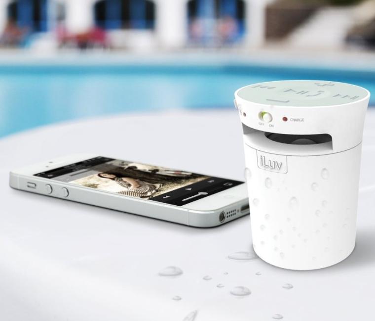 Splash-Resistant Wireless Bluetooth Speaker and Speakerphone