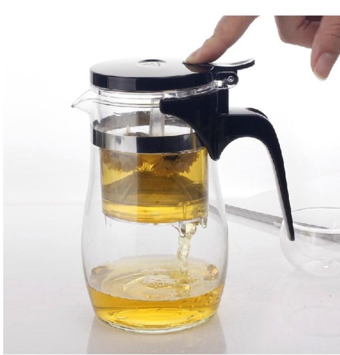 Teapot 800ml Fashion Convenient Office Glass