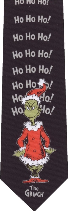 The Grinch Dr Seuss Reversible New Christmas Novelty Tie