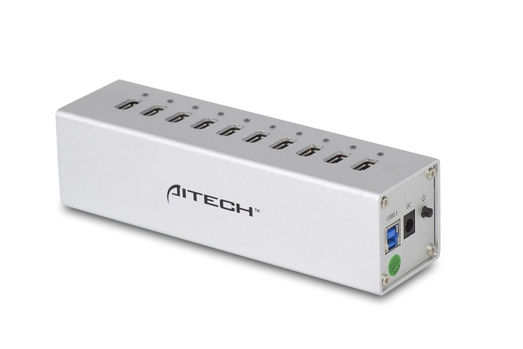 USB 3.0 10 Ports HUB with 12V4A Power Adapter and Power Switch