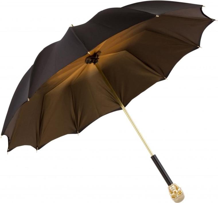 UV Umbrella Gold Skully