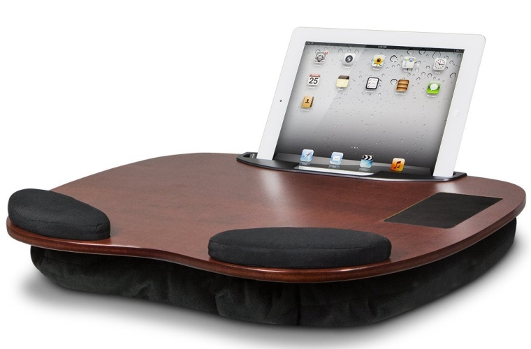 Wooden Lap Desk with Wrist Pads