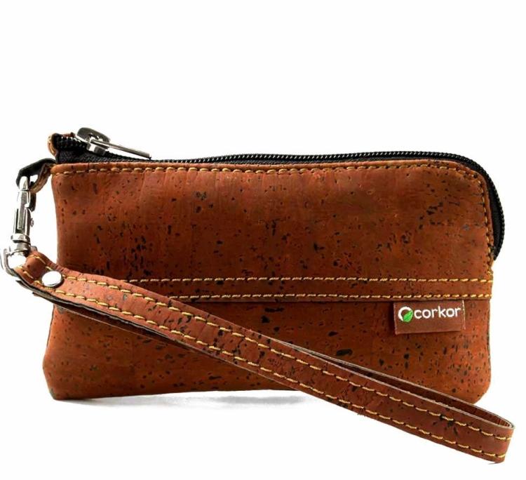 iPhone 4  4S  5  5S  5C Cork Wristlet Wallet