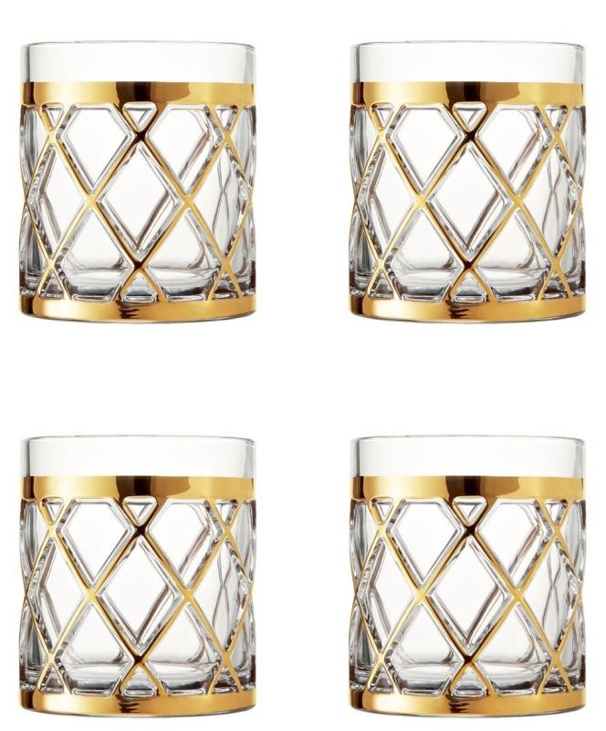 18K Gold Old Fashioned Glasses