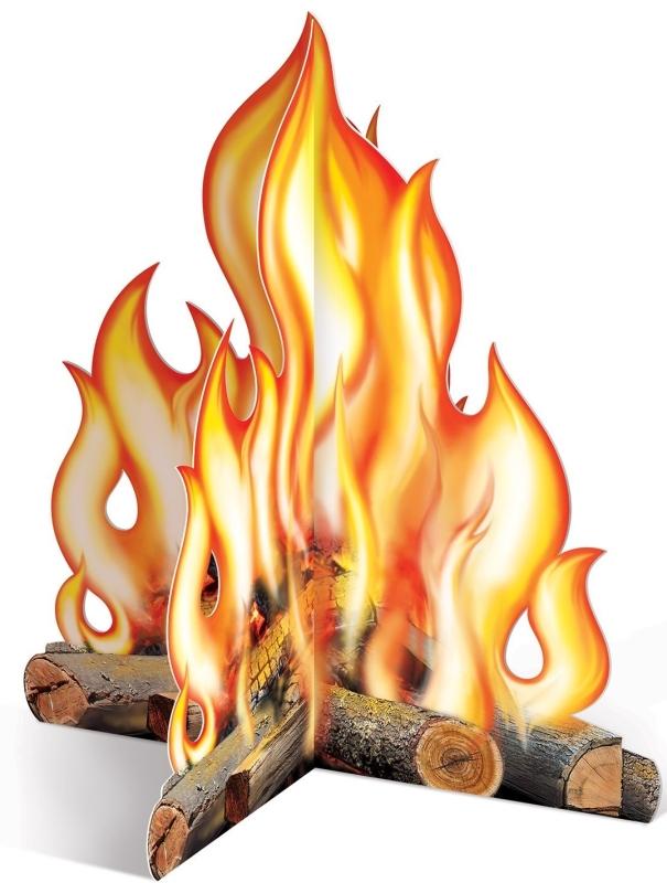 3D Campfire Centerpiece