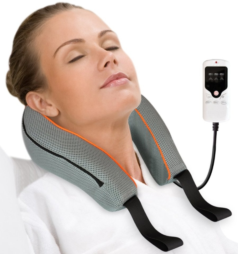 3D Vitality Kneading Neck Massager with LED Controller