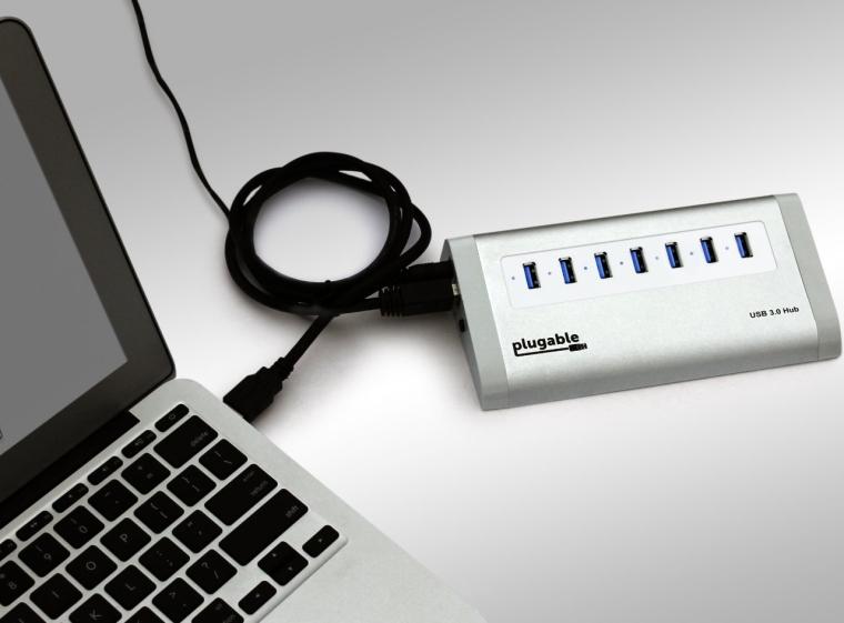 7 Port Aluminum USB 3.0 Hub