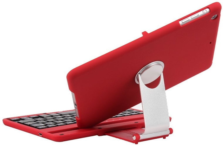 Aluminum 360 Swivel Rotating Stand Case Cover Built-in Bluetooth Keyboard