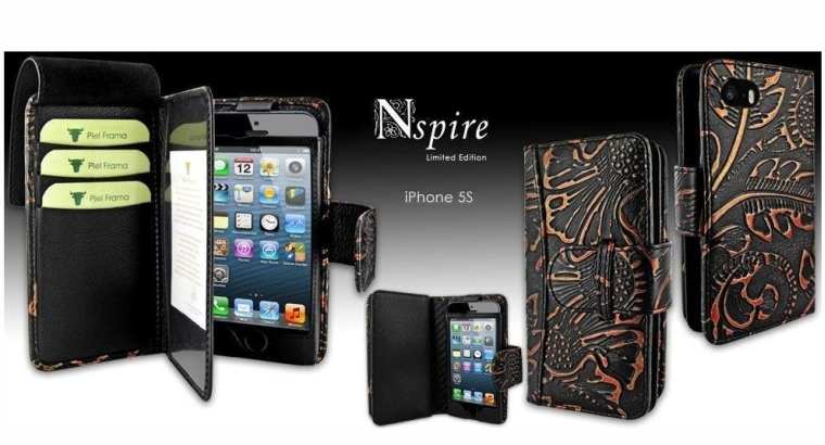 Apple iPhone 55S Piel Frama Black Nspire Leather Wallet (2)