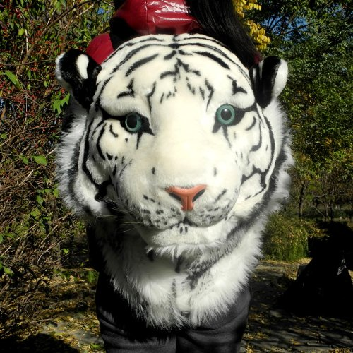 Cool 3D Tiger Head Plush Backpack From Pomelo