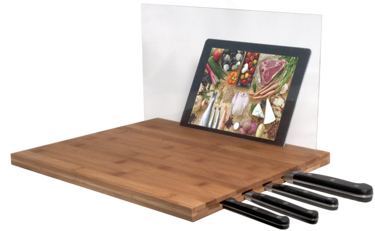 DIGITAL Bamboo Cutting Board for iPad and other Tablets