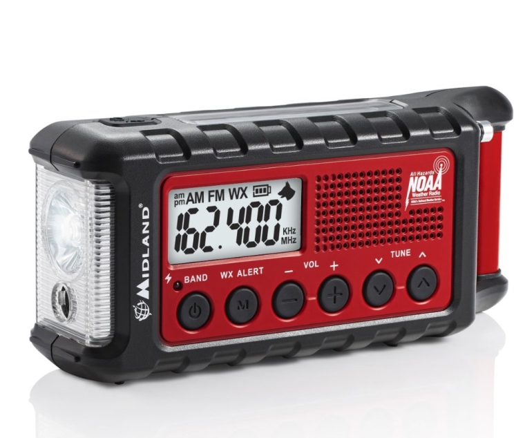 Emergency Solar Hand Crank AM FM Digital NOAA Weather Radio with Cree LED Flashlight and USB Charger Output