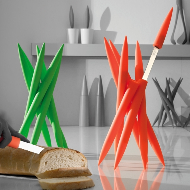 Legnoart Spicy Magnum Knifeblock With 6 Different Knives