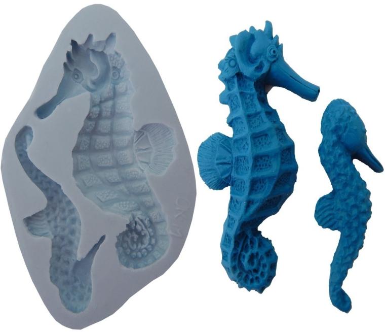 Silicone Molds Silicone Molds sea horse cake decorating fondant