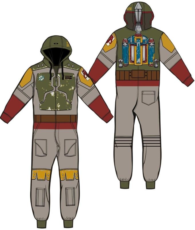 Star Wars Boba Fett Gray Jumpsuit