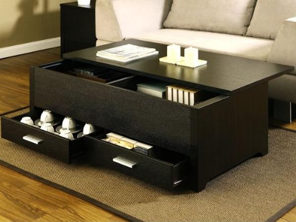 Storage Box Coffee Table in Espresso Finish