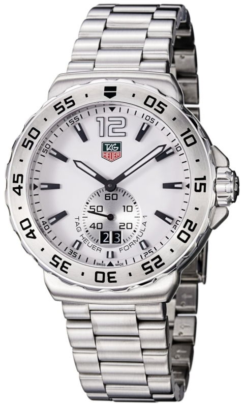 TAG Heuer Mens Formula 1 White Dial Stainless Steel Watch