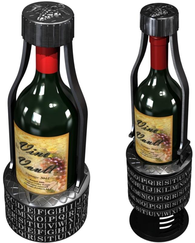 Vino Vault Wine Cryptex - Brain Teaser Puzzle