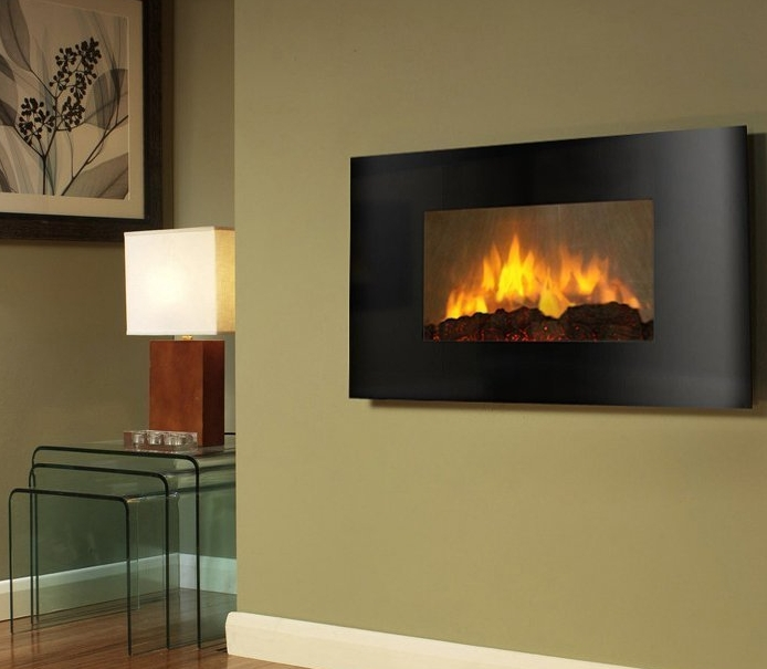 Wall Mounted Electric Fireplace Control Remote Heater