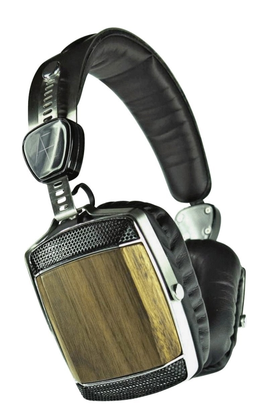 Wood and Stainless Steel Headphones