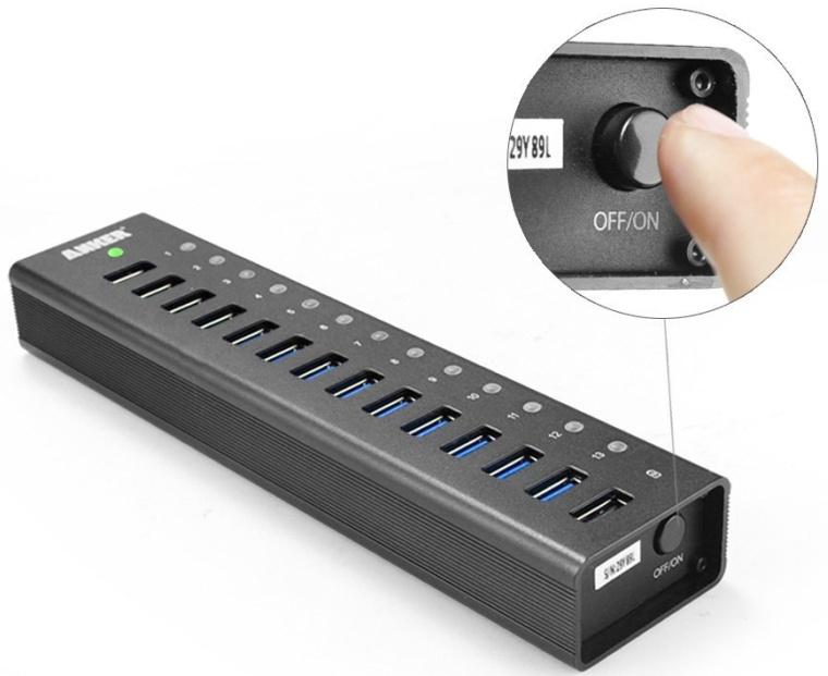 Anker USB 3.0 13Port Hub  5V 2.1A Smart Charging Port