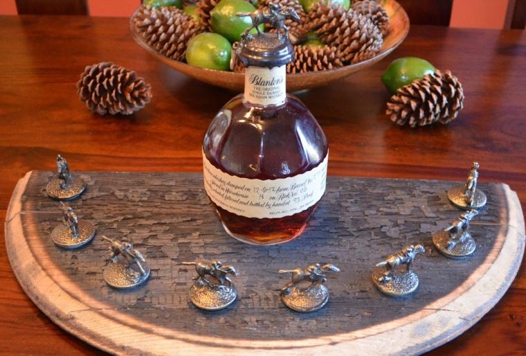 Blantons Bourbon Whiskey Bottle Cork Stopper Display