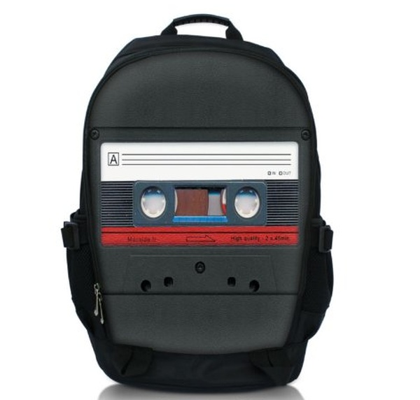 Cassette Tape Laptop Netbook Backpack