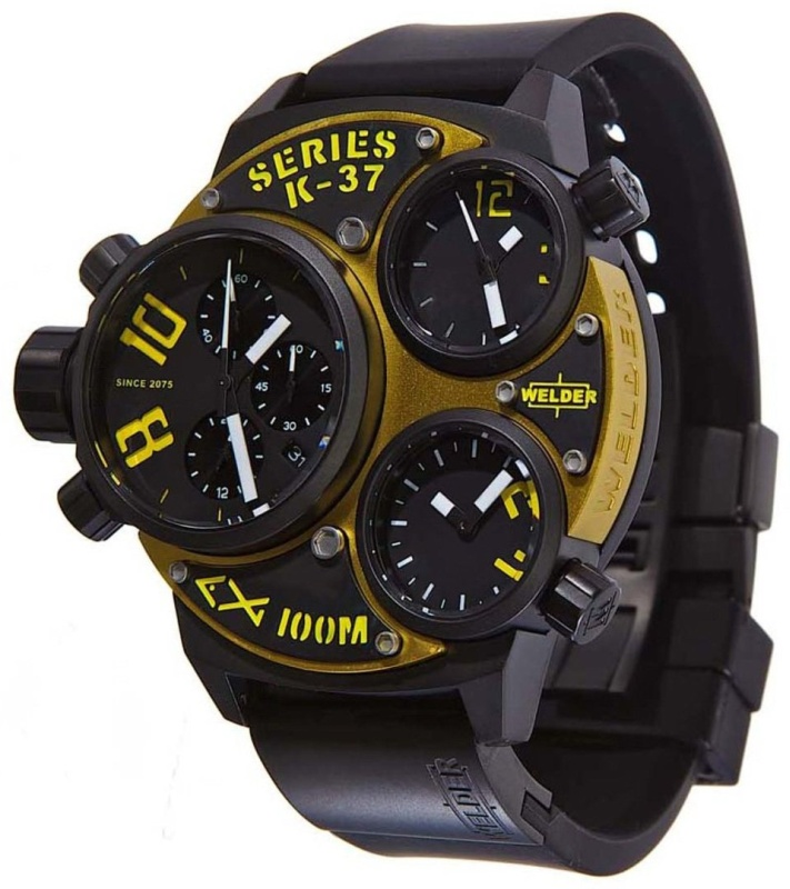 Chronograph Black Ion-Plated Steel Mens Watch
