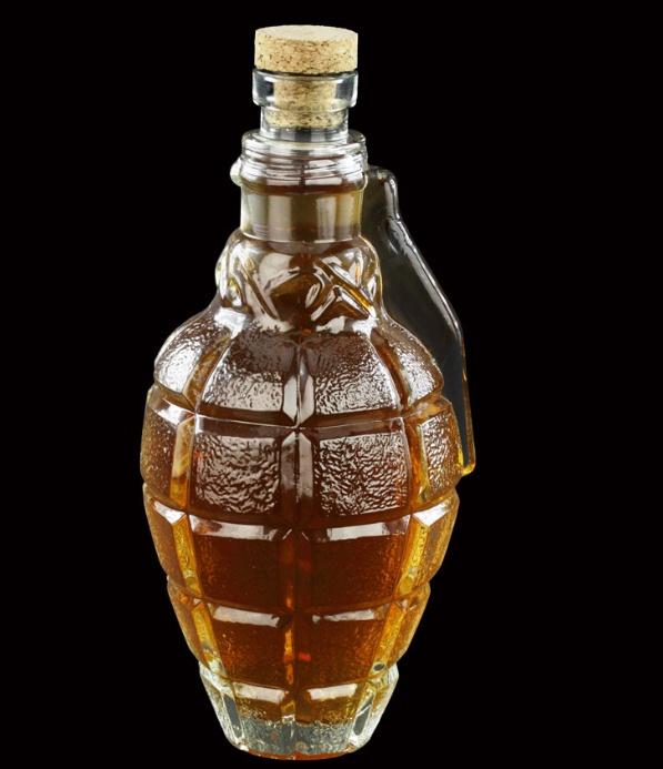 Hand Grenade Glass Whiskey Decanter