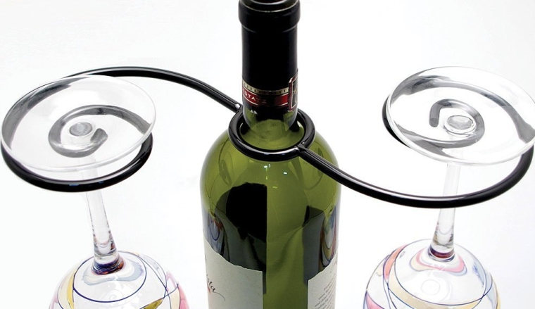 Hostess Wine Bottle Glasses Holder