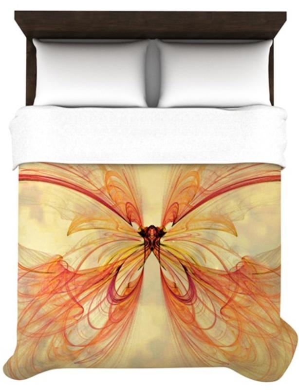 InHouse Alison Coxon Papillon 68 by 88-Inch Duvet