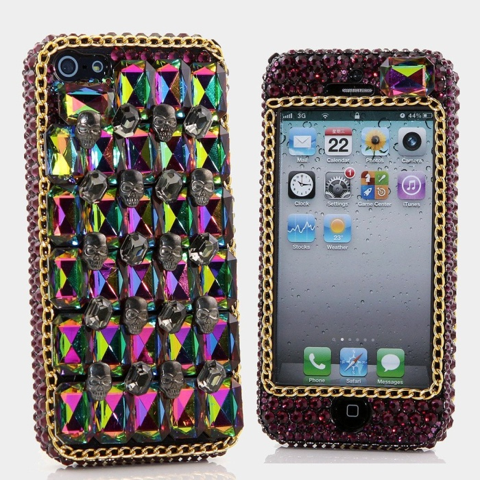 Luxury Bling iphone 5C Case Cover Faceplate Swarovski Crystals Diamond