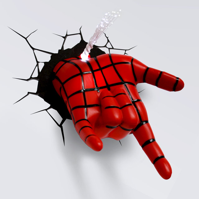 Marvel Ultimate Spiderman Spidey Hand 3d Deco Light