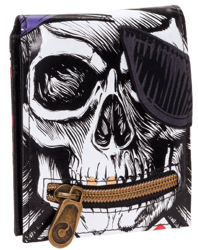 Mojo Mens Pirate Skull Bifold Wallet