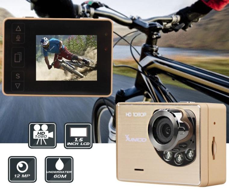 Sunco DREAM 1 HD 1080p 12MP Waterproof Wide-Angle Sport Camcorder
